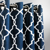 "Geometric - curtain with lining - single panel - 42"" x 96"" - waseeh.com"