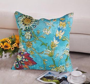 Contemporary Floral Cushions Cover - Throw Pillow Cover - waseeh.com