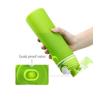 Silicone Fold able Sports Water Bottle - 750ML - waseeh.com