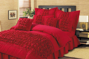8 Pieces Luxury Embellish Comforter Set - King Size - waseeh.com