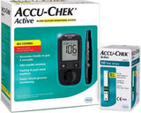 Accu-Chek Active Glucose Monitor with 10 Strips Glucometer  (Black) - waseeh.com