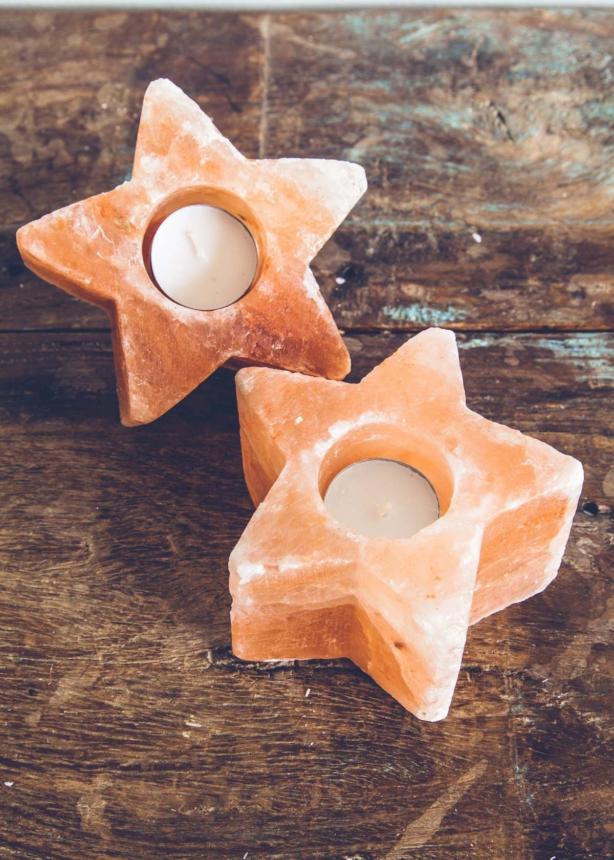 Natural Salt Candle Holder - Pack of 2 Stars - waseeh.com