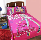 Single Kids Bed Sheet - Heart Barbie - waseeh.com