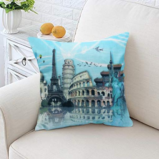 Contemporary Cushion Cover- LANDMARKS - waseeh.com