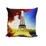Eiffel Tower - Golden Printed Cushion Cover - waseeh.com