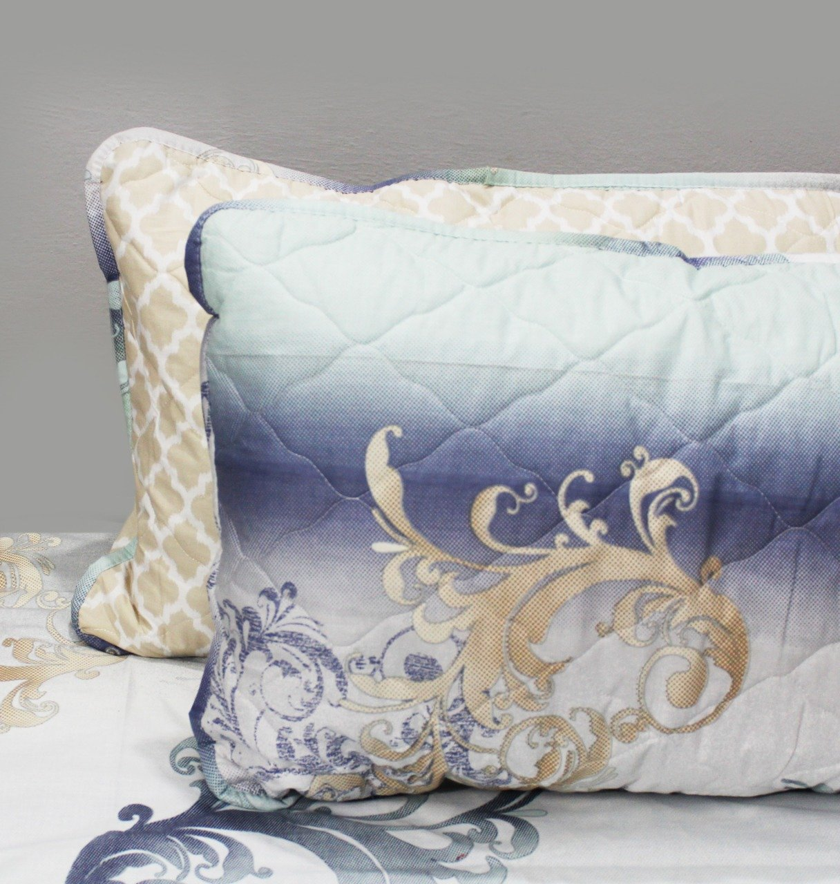 Export Quality Cotton Bed Spread Set - 6 pcs - Multi Patterned - waseeh.com