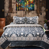 Black Beauty - Cotton Bed Spread Set - 6 pc - waseeh.com