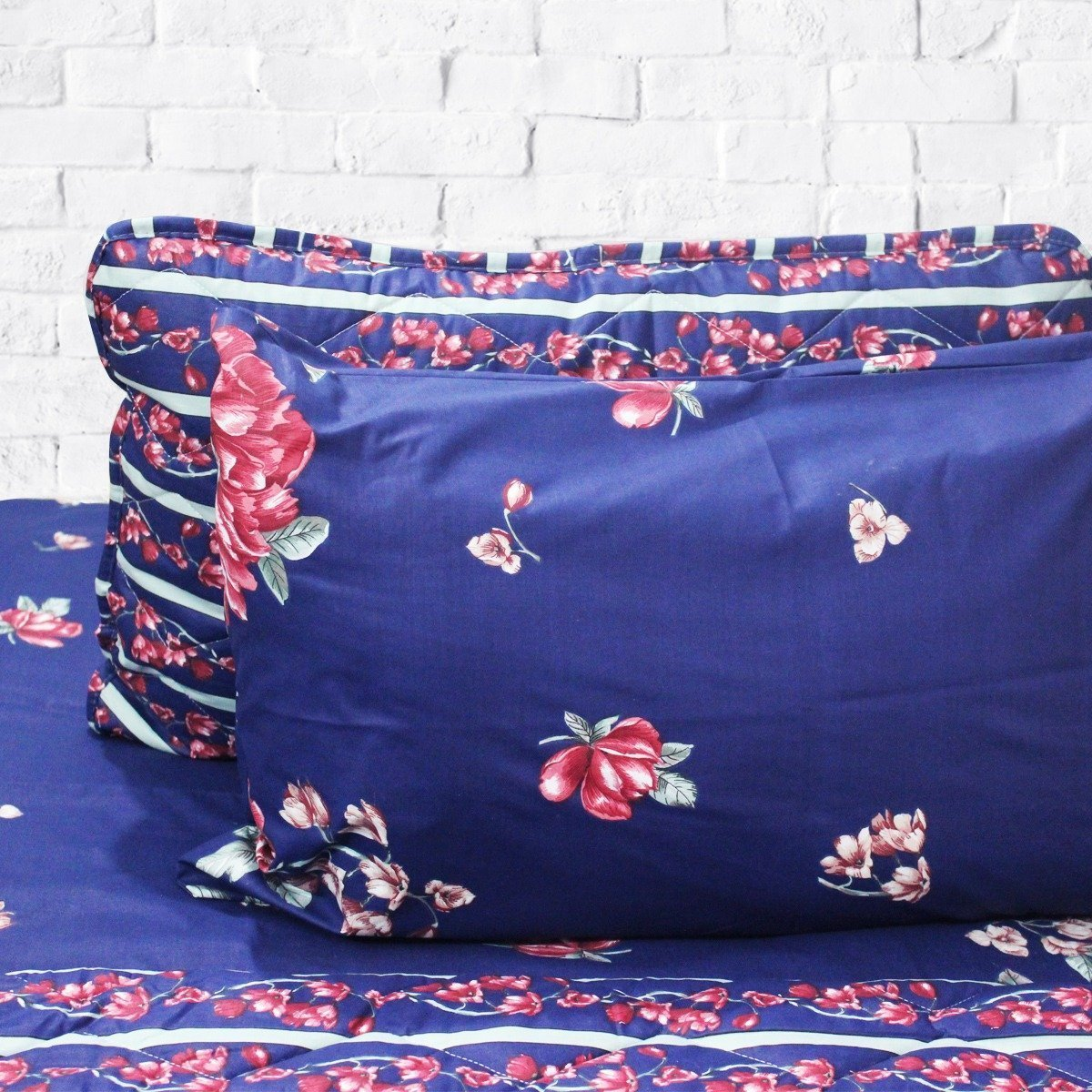 Blue Summer - Cotton Bed Spread Set - 6 pc - waseeh.com