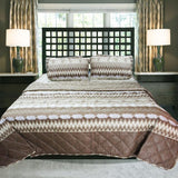 Tan Brown - Cotton Bed Spread Set - 6 pc - waseeh.com