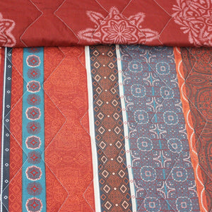 Red Sindhi - Export Quality Bed Spread Set - 6 pc - waseeh.com