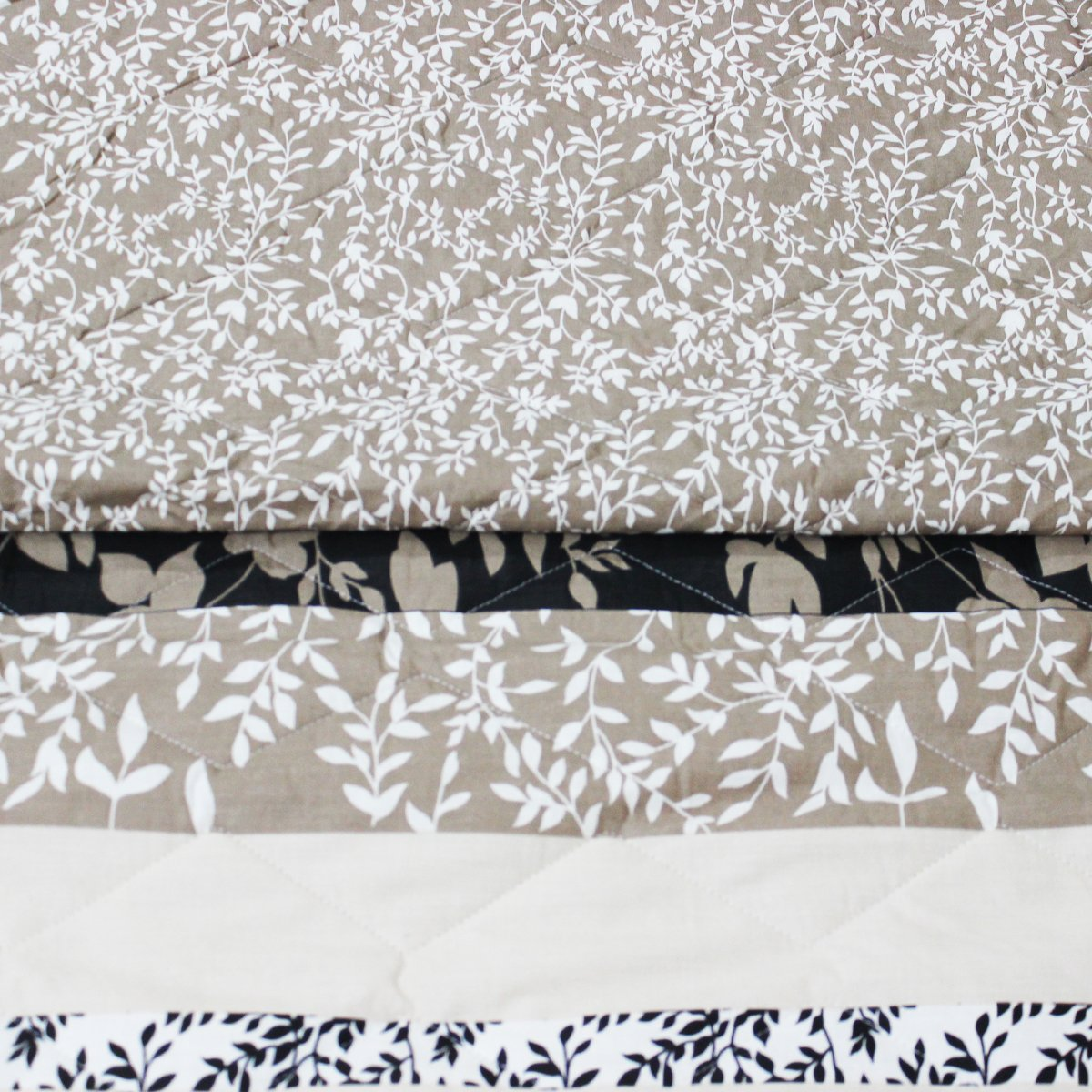 cappuccino Floral - Cotton Quality Bed Spread Set - 6 pcs - waseeh.com
