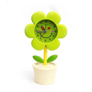 Kids Side Table Clock - Sunflower with pot - waseeh.com