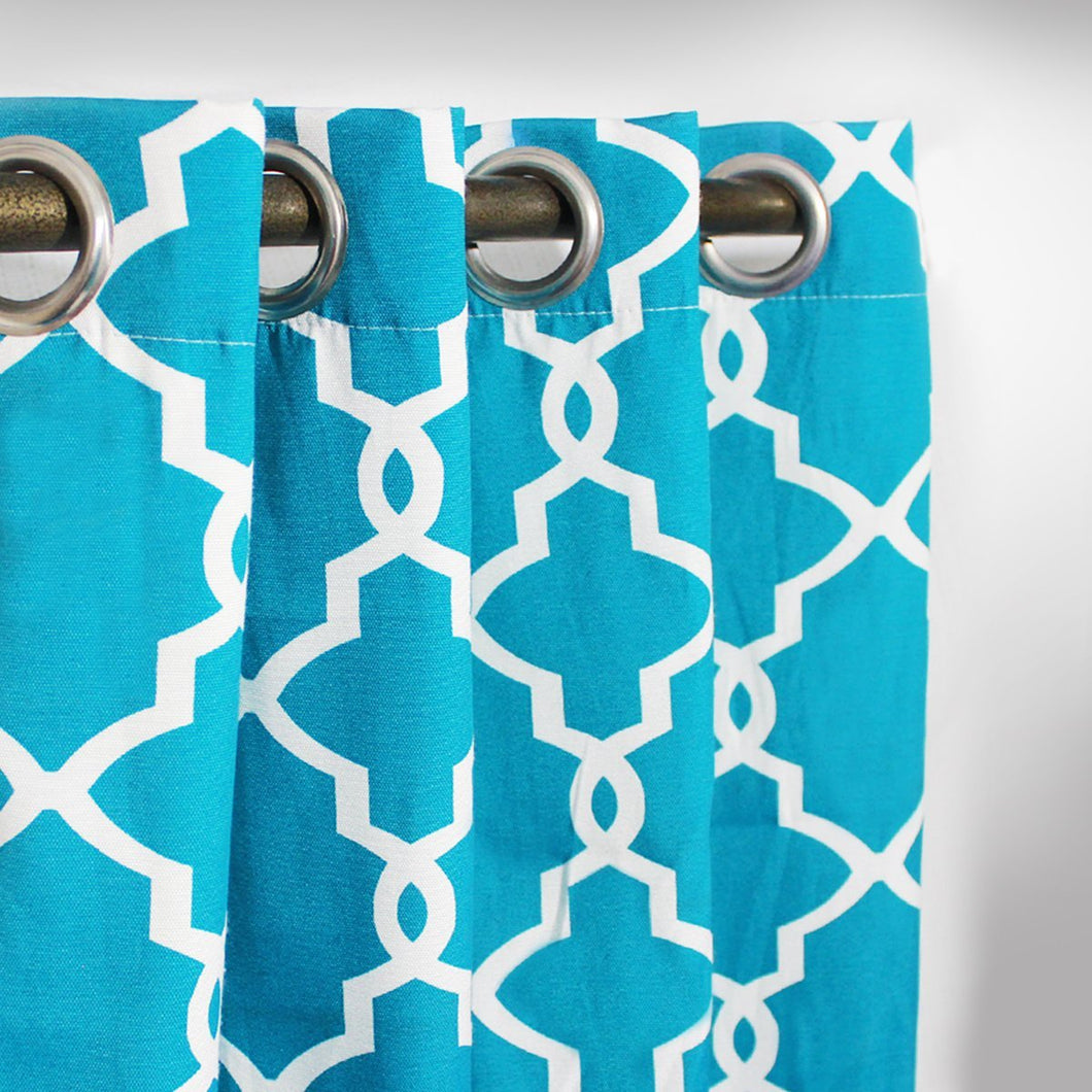 Geometric - curtain with lining - single panel - 42