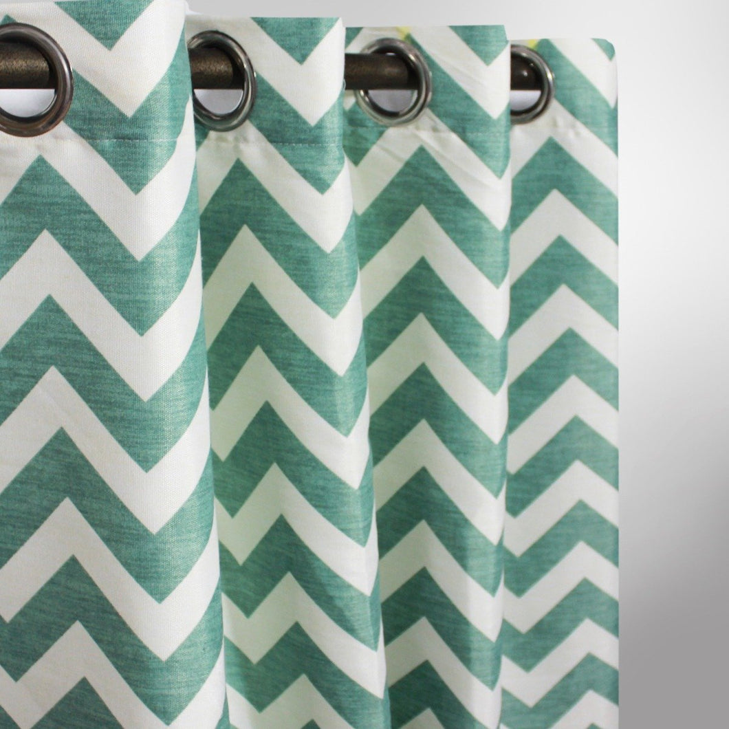 Chevron Curtain With Lining - Single Panel - 47