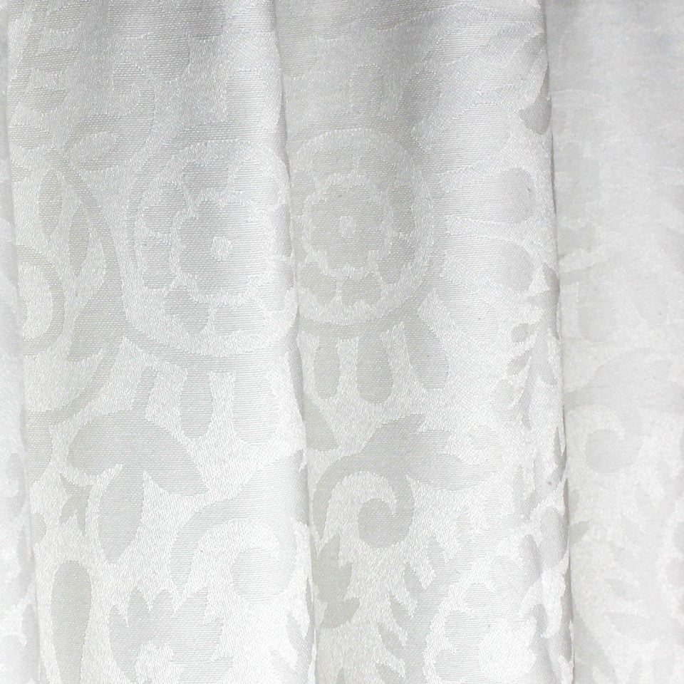 "White Patterned - Curtain With Lining - Single Panel - 44"" x 96"" - waseeh.com"