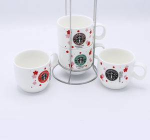 Starbucks Cup tower- 4 Pcs - waseeh.com