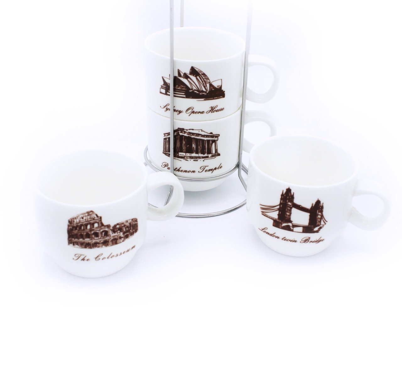 Land Mark Cup Tower - 4 Pcs - waseeh.com