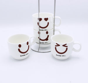 Emoji Cup Tower - 4 Pcs - waseeh.com