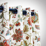 Beige Floral - Curtain With Lining - Single Panel - 42'' x 94'' - waseeh.com