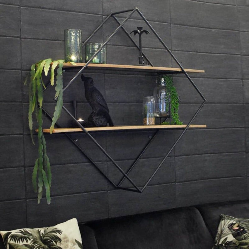 "Wall-Mounted ""Diamond"" Metal Storage Frame - waseeh.com"
