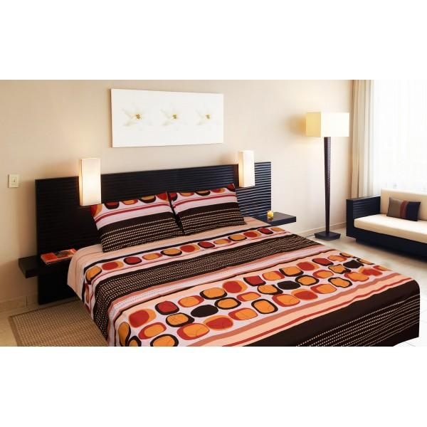 Rich Cotton Double Bed Sheet With 2 Pillow cases -Ecn018 - waseeh.com