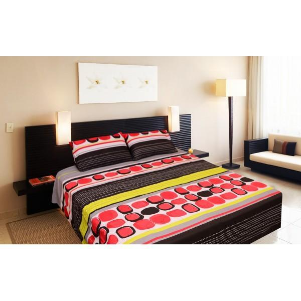 Rich Cotton Double Bed Sheet With 2 Pillow cases -Ecn019 - waseeh.com