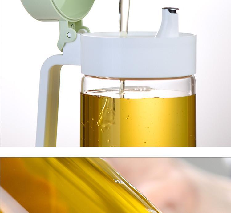 Borosilicate Glass Measuring Oil Jug with Lid by O'lala - waseeh.com