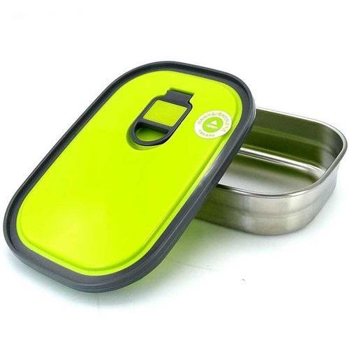 Insulated Stainless Steel Hardcore Plastic Lid Rectangle Food Box - waseeh.com