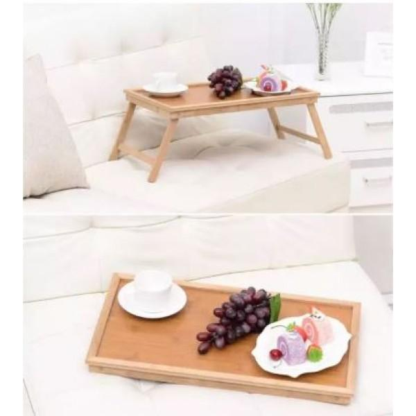 Foldable Portable Bamboo Table For Laptop Bedroom And Kitchen - waseeh.com