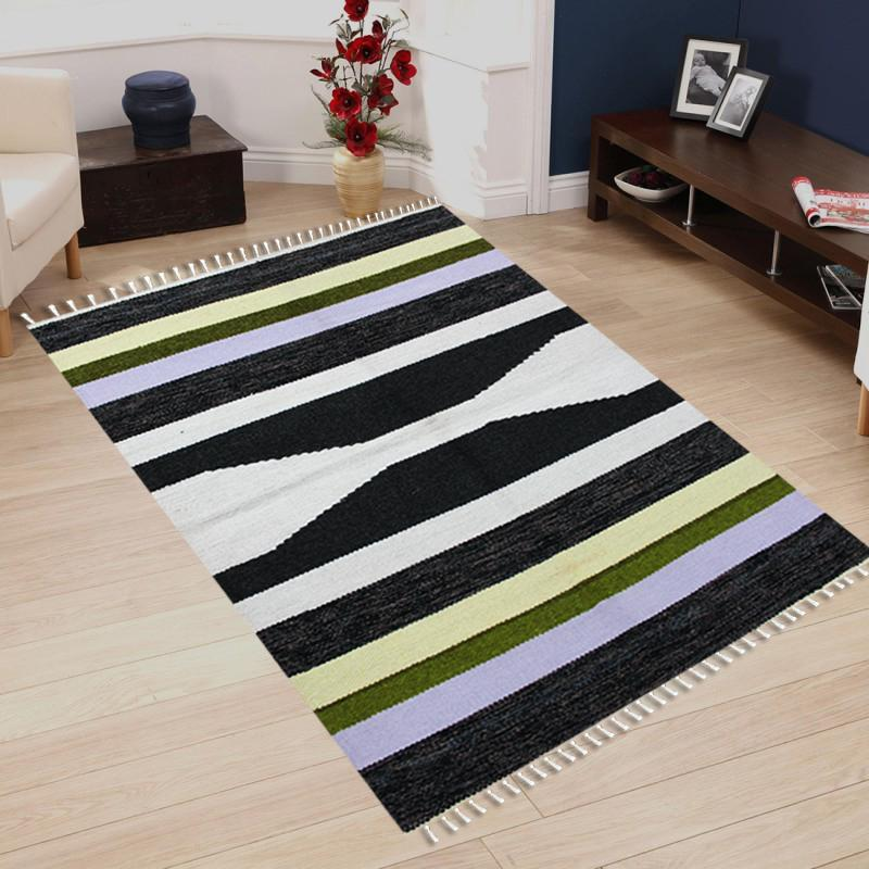 Hand-woven Woolen Rug - Single Seam - 2.5' x 4' - waseeh.com