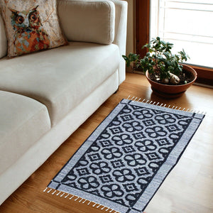 Floral - Hand-woven Woolen Rug - Double Seam - 2' x 3' - waseeh.com