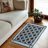 Squared - Hand-woven Woolen Rug - Double Seam - 2' x 3' - waseeh.com