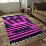 Geometric - Hand-woven Woolen Rug - Single Seam - 4' x 6' - waseeh.com