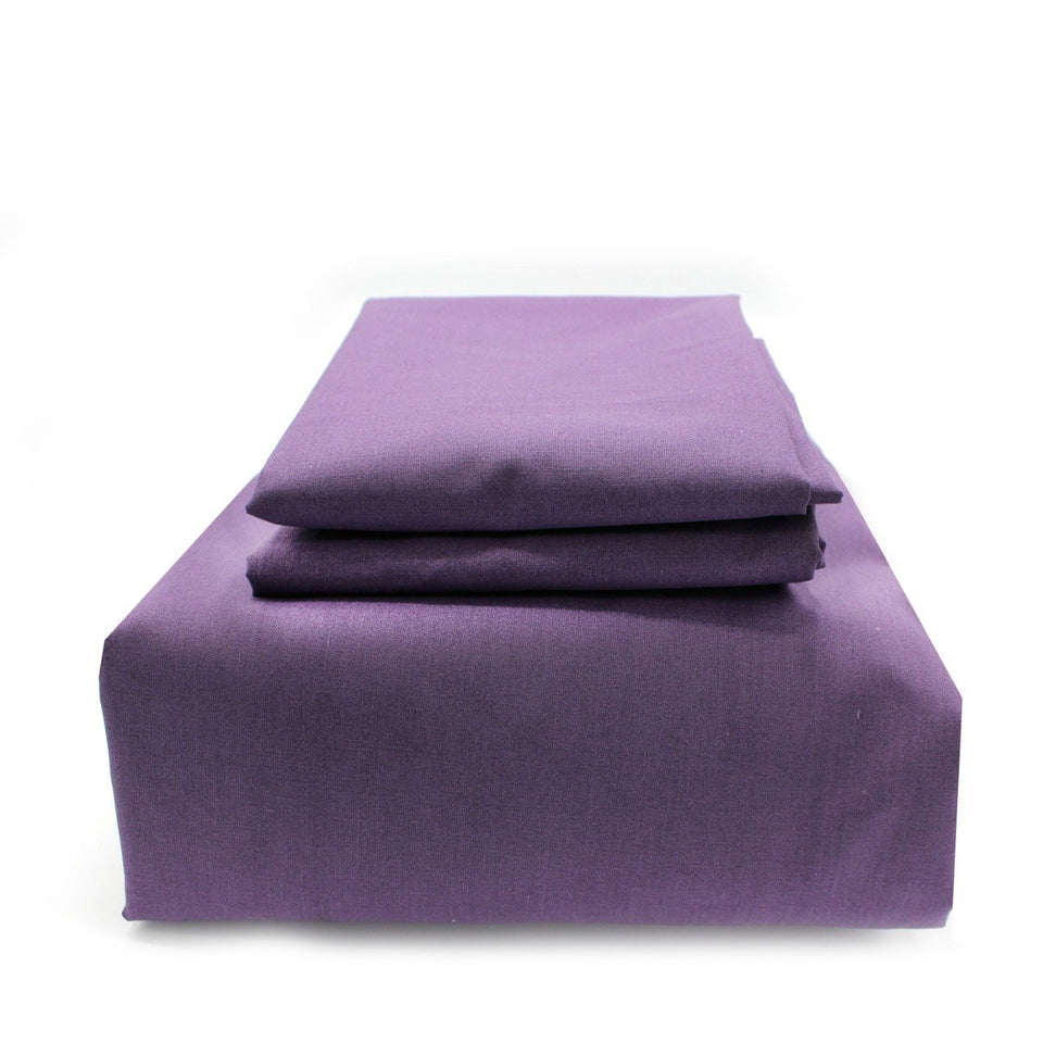 Fitted Sheet with 2 Pillow Covers - Purple - waseeh.com