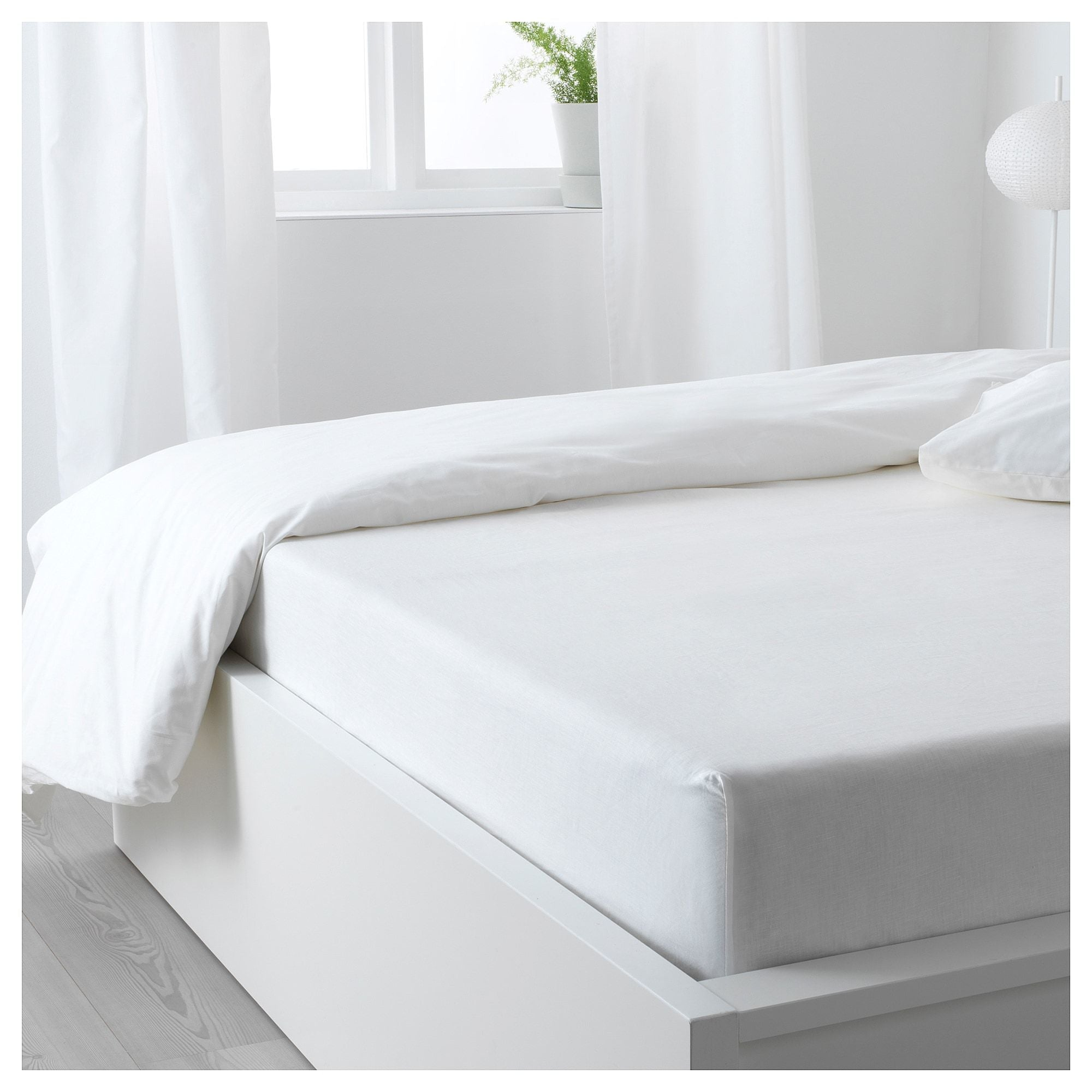 Fitted Sheet - Plain White - waseeh.com