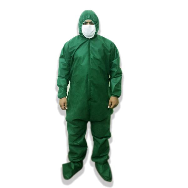 Hazmat Suit in Non Woven 50gsm Fabric with Free Eye Shield - waseeh.com