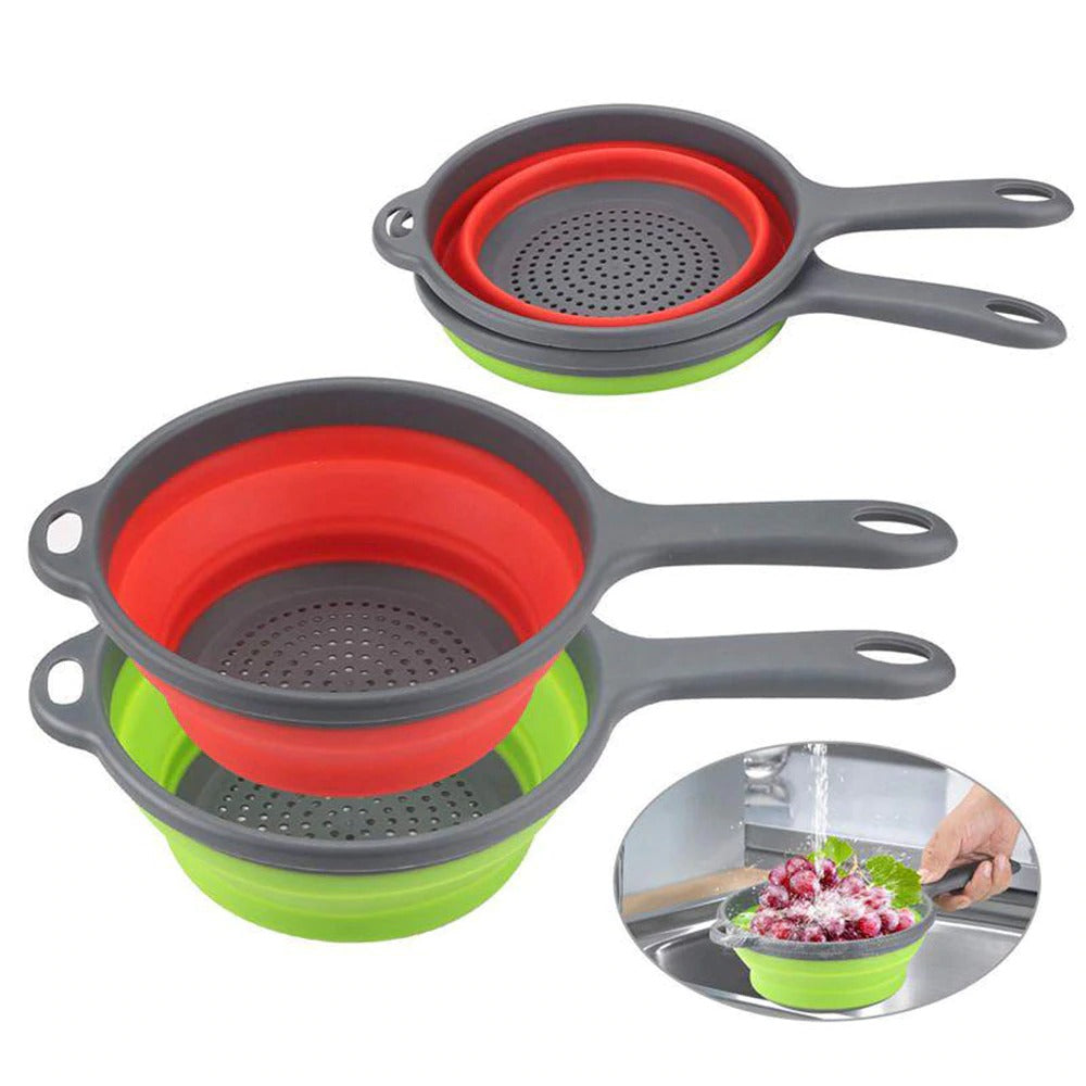 Plastic Collapsible Strainer with Handle