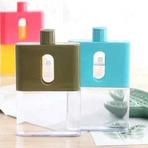A5 Kettle Outdoor Sports Plastic Bottle Paper Portable Creative Student Square Flat Water Bottle My bottle drink tumbler kettle - waseeh.com