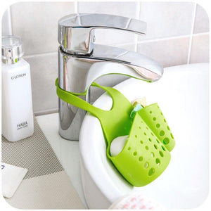 Kitchen Sink Shelf Sponge Drain Rack Cleaning Cloth Storage Holder Soap Storage Organizer Sink Utensils Bathroom Kitchen Accessories - waseeh.com