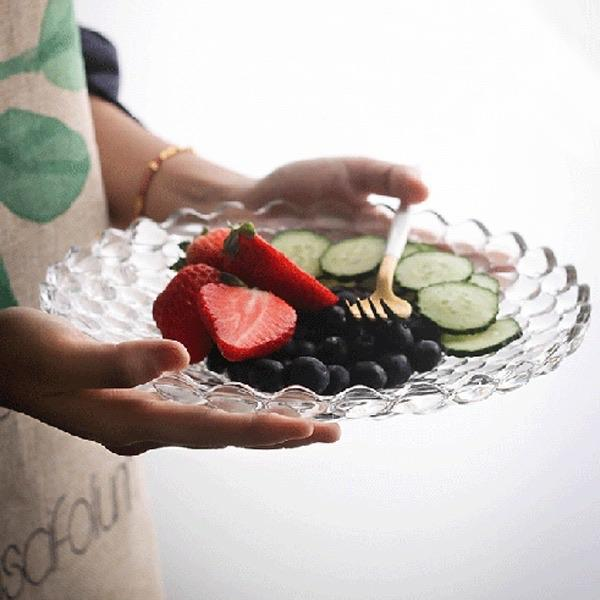 Glass fruit plate - waseeh.com