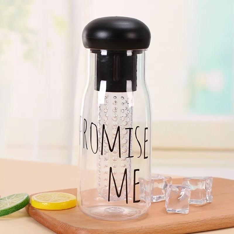 Detox Glass Water Bottle With Cover - waseeh.com