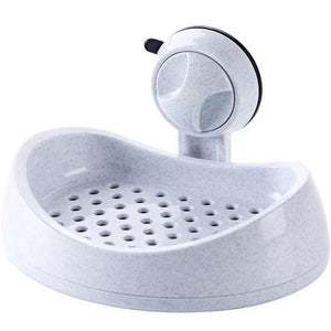 Suction cup drain soap box toilet rack bathroom non-perforated wall hanging soap box rack at home - waseeh.com