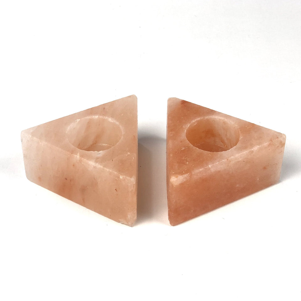 Himalayan Natural Pink Salt Candle Holder (Pack of 2) - waseeh.com