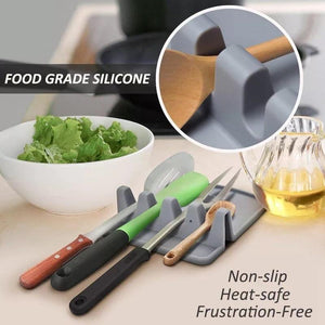 Kitchen Silicone Spoon Rest and Utensil Organizer - waseeh.com