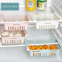 Kitchen Organizer Adjustable Kitchen Refrigerator Storage Rack Fridge Freezer Shelf Holder Pull-out Drawer Organiser Space Saver - waseeh.com