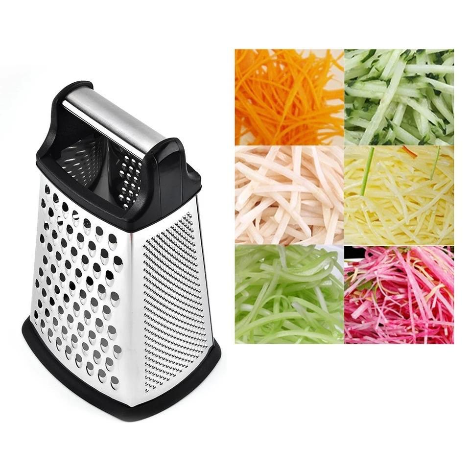home kitchen safe Slicer 4 Sides Box Grater Stainless Steel Potato Multifunctional Planing Knife - waseeh.com