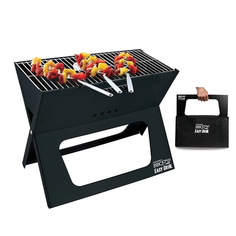 X TYPE FOLDABLE PORTABLE Barbecue Grill, BBQ / BAR B Q Portable Grill WITH COOKING PLATE - waseeh.com