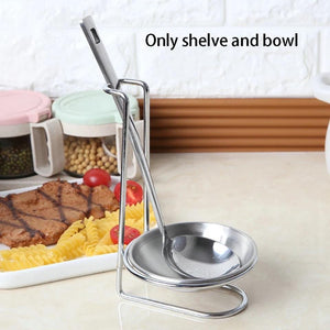 Support Storage Home Stands Gift Spoon Holder Organizer Decorations Cutlery With Bowl Stainless Steel Multifunctional Practical - waseeh.com