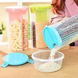 Transparent Food Storage Jar | Cereal Dispenser | Pulses Container - waseeh.com