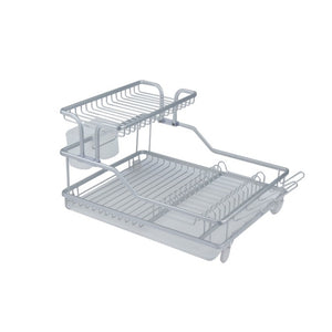 Double Dish Rack with Water Tray